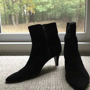 Bandolino black suede ankle boot.